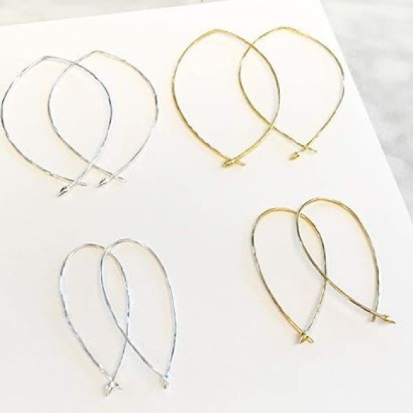 dff699a790702 Hammered Wire Small Hoops by Stella & Dot NWT